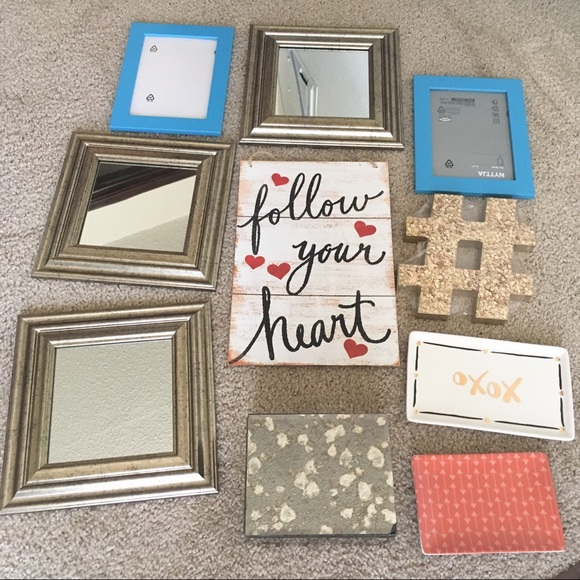 Other Home Wall Decor Mirrors Signs Picture Frames Trays Poshmark
